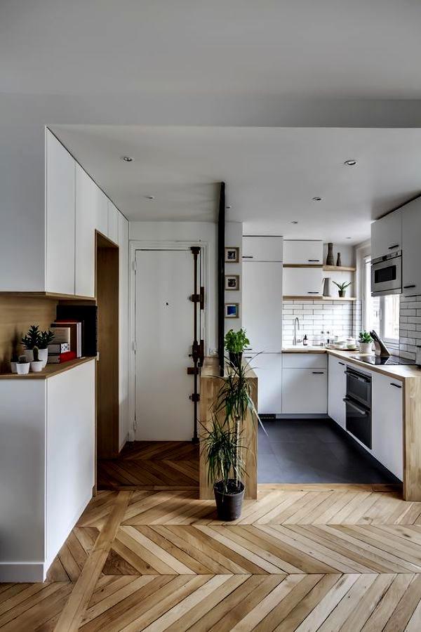 cocina y salón integrados
