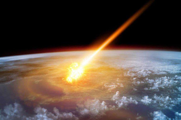 meteorito a la tierra